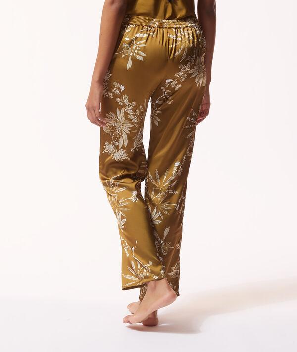 Атласные брюки с тропическим принтом;${refinementColor}