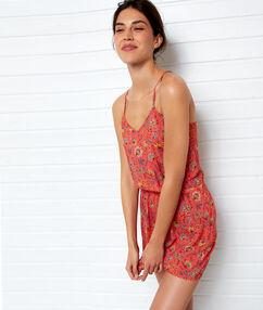Пляжное платье, открытая спина разноцветный.
