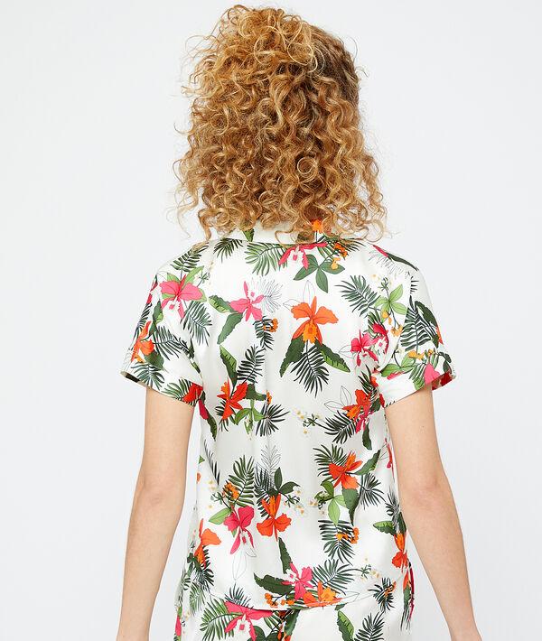 Пижамная рубашка с принтом;${refinementColor}
