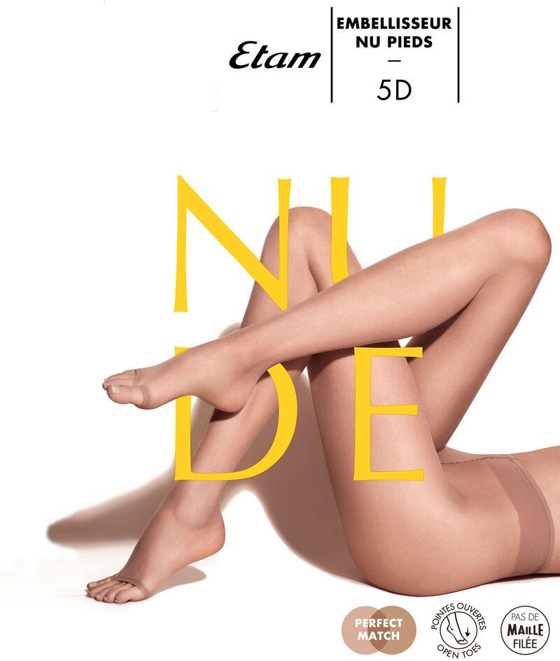 Колготки из вуали с эффектом голых ног, пальцы стопы открыты;${refinementColor}