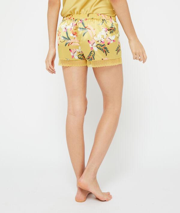 Атласные шорты с цветочным принтом;${refinementColor}