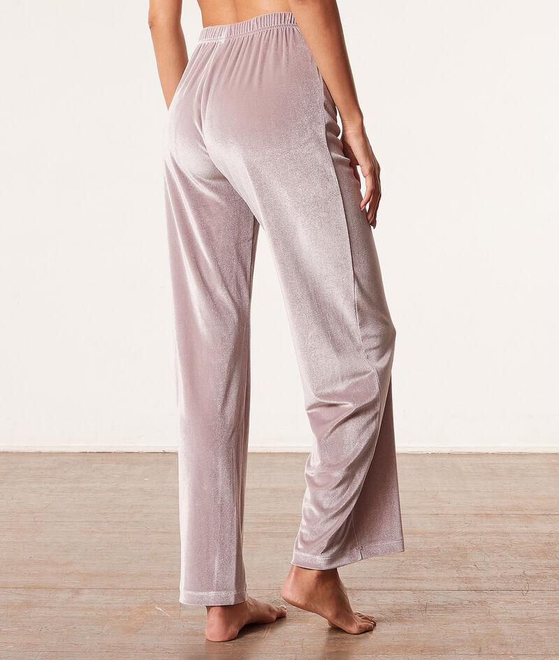 Пижамные брюки из велюра;${refinementColor}