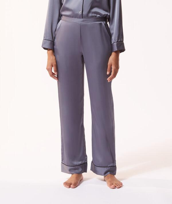 Атласные пижамные брюки;${refinementColor}
