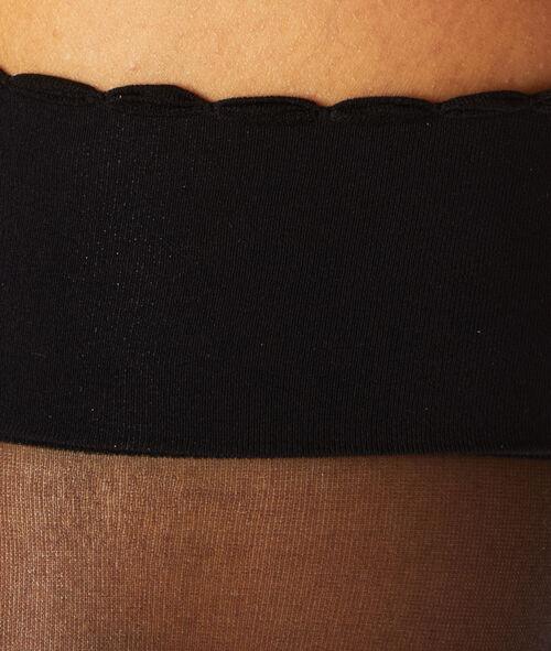 2 пары низких чулок 15d черного цвета