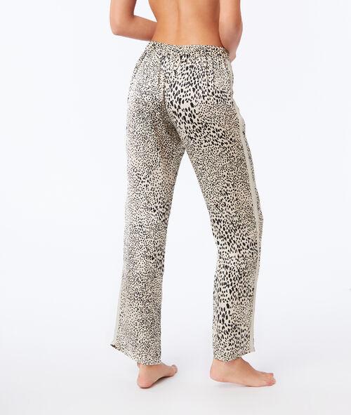 Штаны с леопардовым принтом