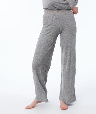 Широкие домашние штаны серый.