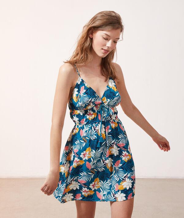 Robe imprimé floral - BORA - BLEU CANARD - S