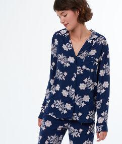 Рубашка от пижамы с принтом синий.