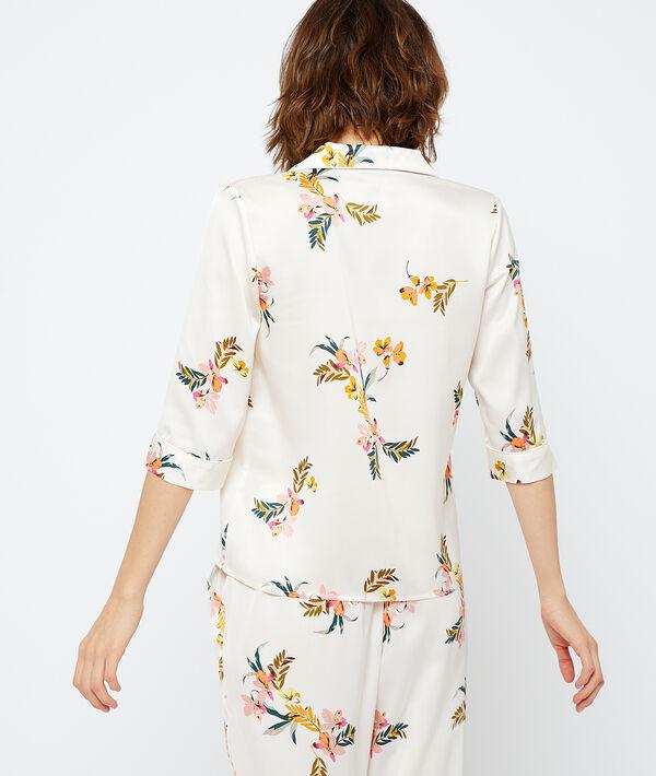 Атласная пижамная рубашка;${refinementColor}