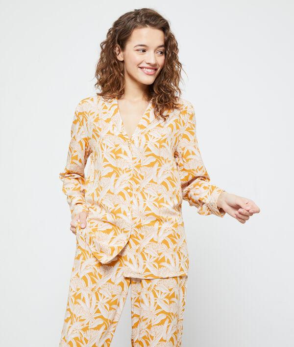 Ночная рубашка с принтом 'листья' - COCOTIER - Охра - L фото