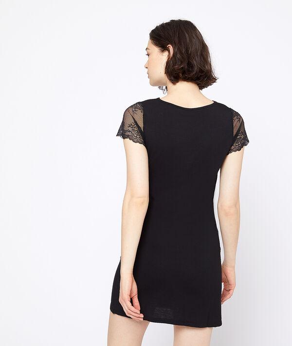 Платье с кружевным декольте;${refinementColor}