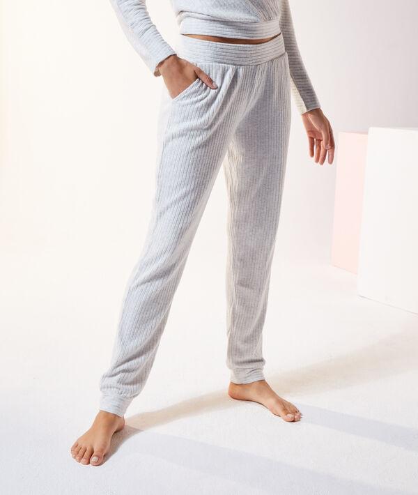 Пижамные брюки в рубчик - DARRYL - Экрю - S