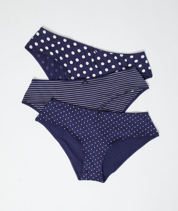 Комплект из 3 шортиков из хлопка - LEONIE - Тёмно-синий - L фото