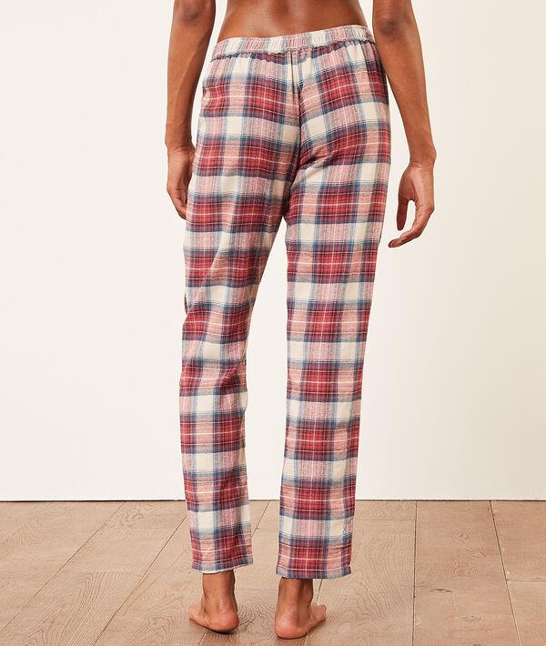 Пижамные брюки из хлопка в клетку;${refinementColor}