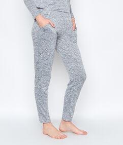 Домашние брюки из невероятно мягкого вязаного меланжа серый.