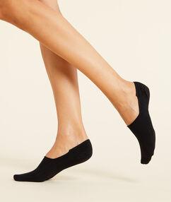 2 пары невидимых коротких носков черный.