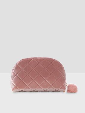 Косметичка с помпоном розовый.
