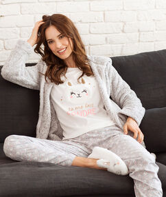 Пижама тройка экрю.