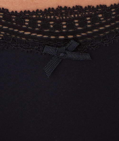 Трусы-шорты с краями, окаймленными графическим кружевом