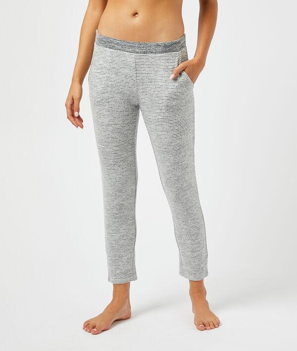 Пижамные меланжевые брюки;${refinementColor}