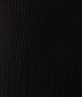 Ребристые леггинсы черный.