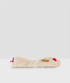 Тапочки в форме оленей экрю.