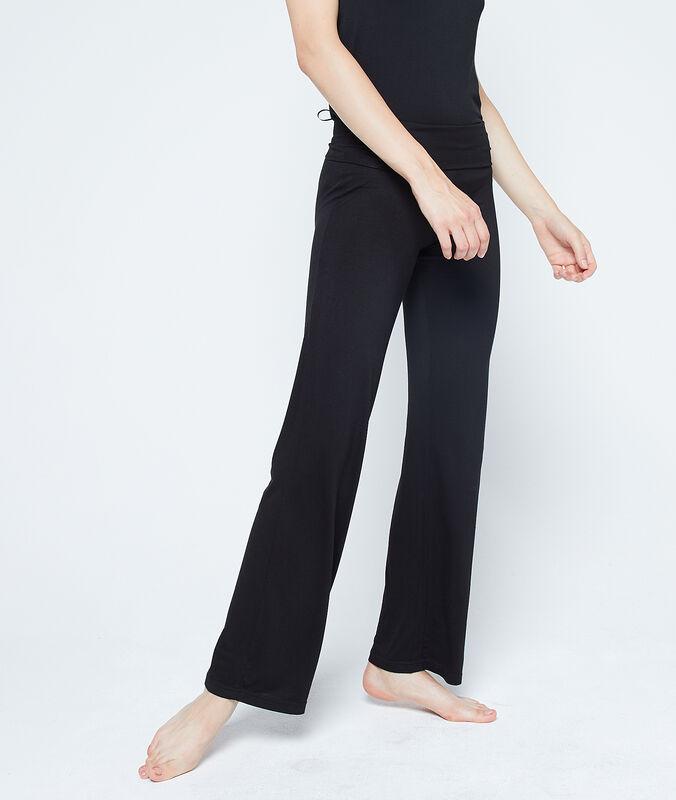 Струящиеся брюки из вискозы черный.