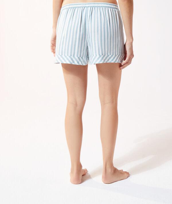 Пижамные шорты в полоску;${refinementColor}