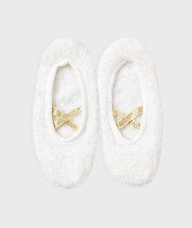 Мягкие оригинальные тапочки белый.