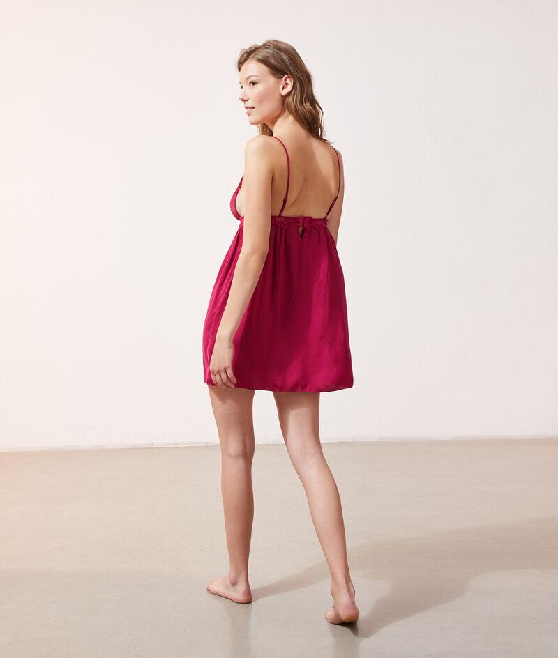 Платье-сорочка с кружевным лифом;${refinementColor}