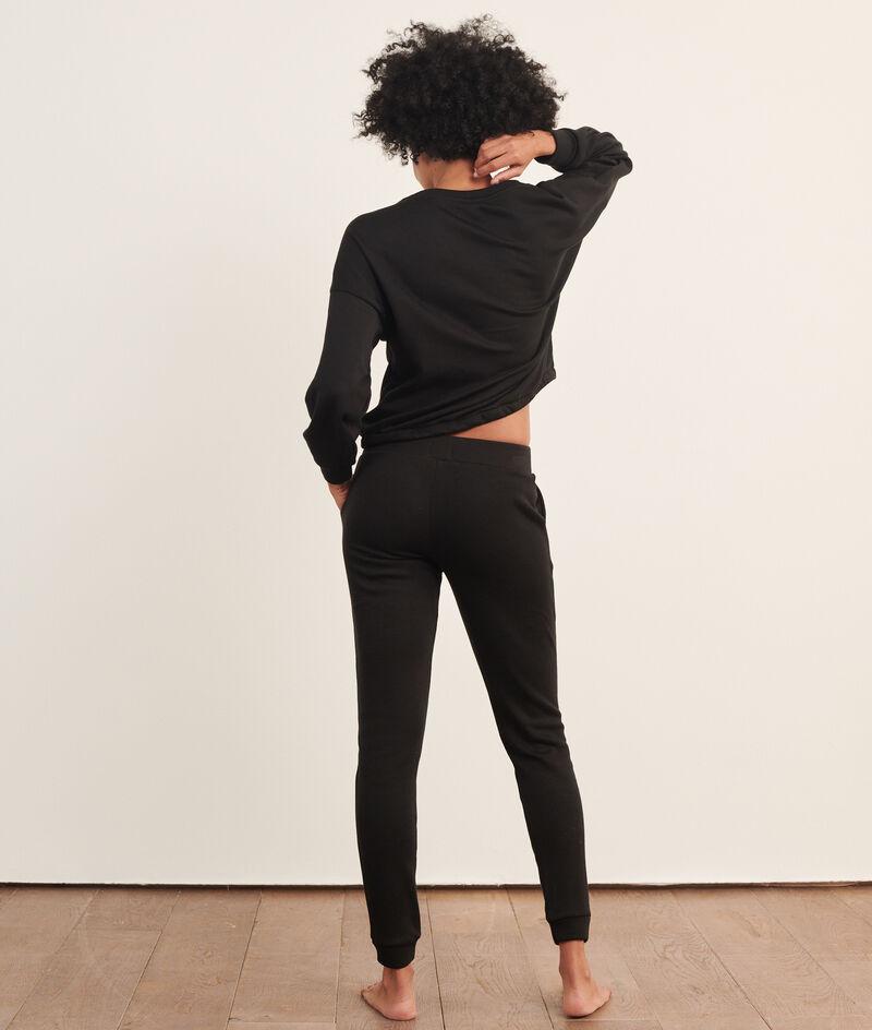 Зауженные пижамные брюки;${refinementColor}