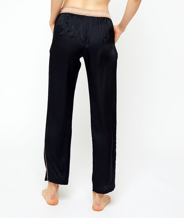 Атласные брюки;${refinementColor}