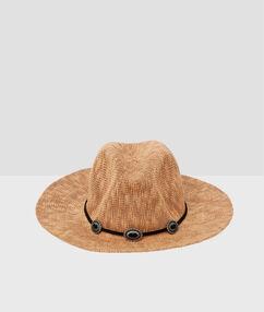 Пляжная шляпа каштановый.