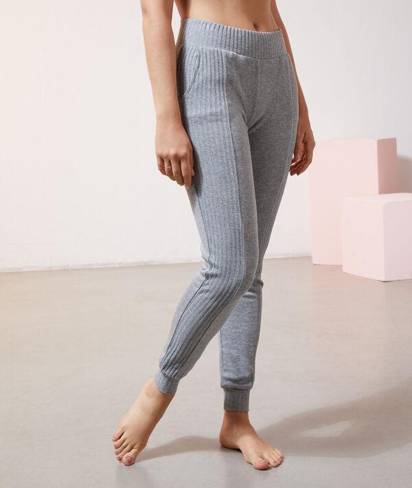 Трикотажные брюки пижамного кроя;${refinementColor}