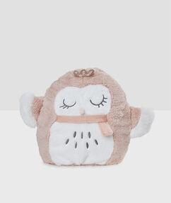 """Сумочка для пижамы """"мягкая игрушка"""" филин розовый."""