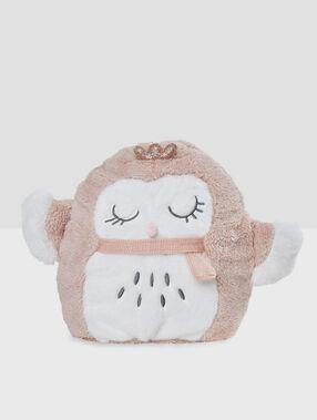 Игрушка-рюкзак «сова» розовый.