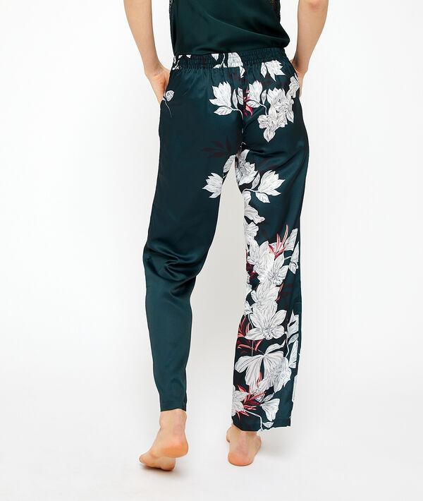 Атласные пижамные штаны;${refinementColor}