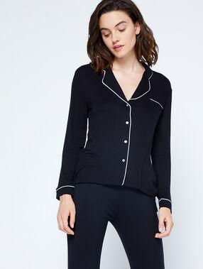 Пижамная рубашка черный.