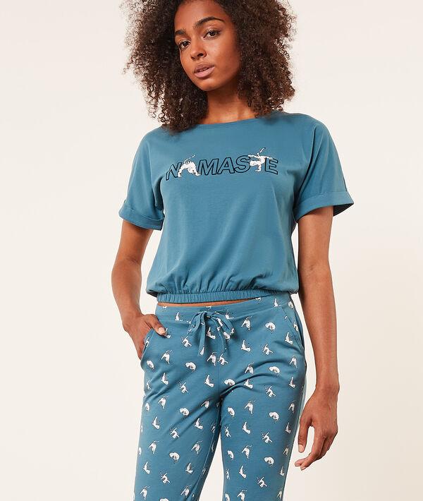 Укороченная футболка с резинкой Namaste;${refinementColor}