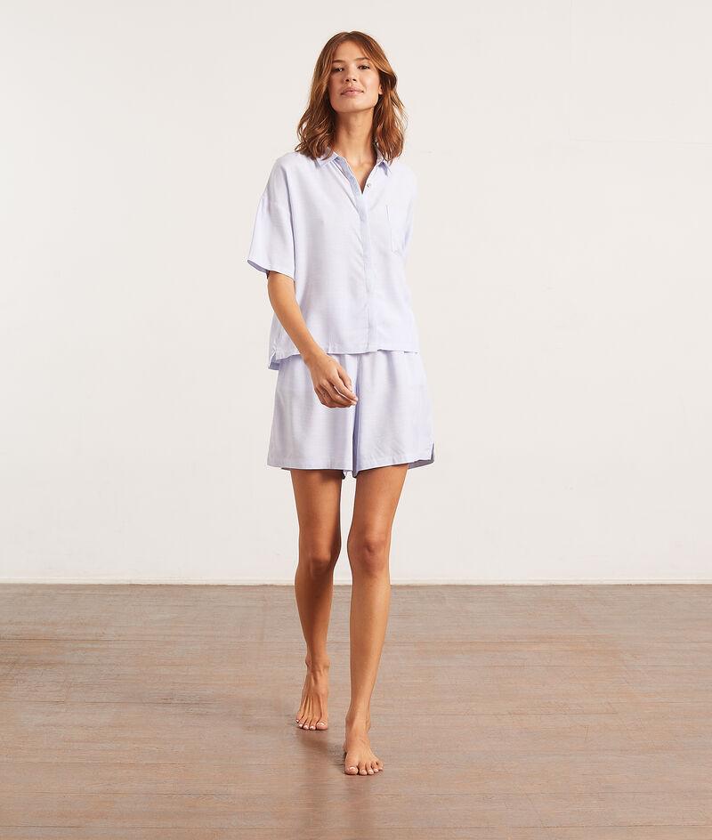 Пижамная рубашка с короткими рукавами;${refinementColor}