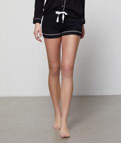 Двухцветные шорты черный.