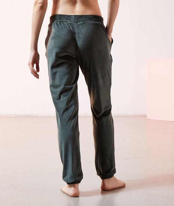 Пижамные брюки из фактурной ткани;${refinementColor}