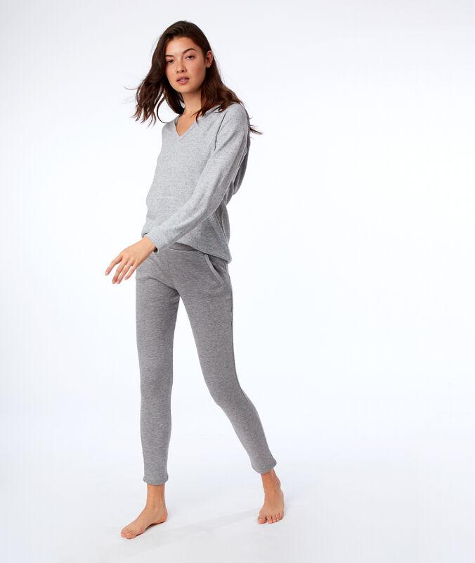 Pantalon homewear uni gris.