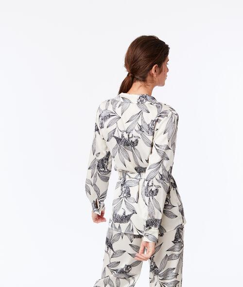Пижамный верх с завязками, с цветочным принтом