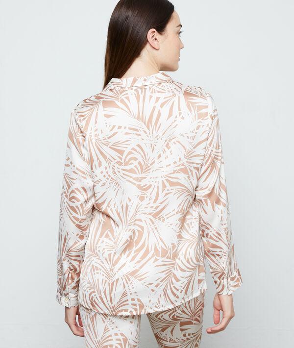 """Пижамная рубашка с принтом """"листья"""";${refinementColor}"""