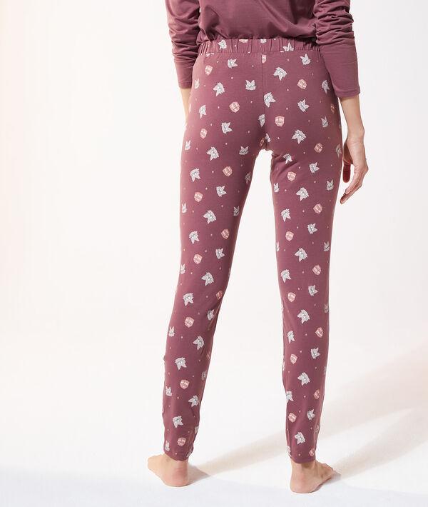 Пижамные брюки с принтом кошек;${refinementColor}