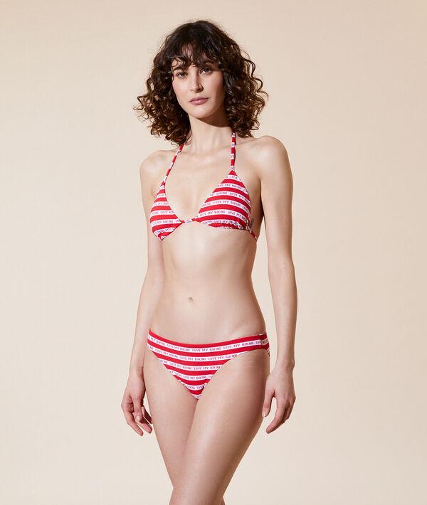 """Верх от купальника """"треугольник"""", съемные вставки - COOL - Красный - 46 фото"""