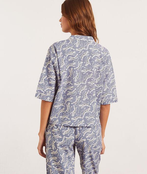 Рубашка с принтом тигров;${refinementColor}