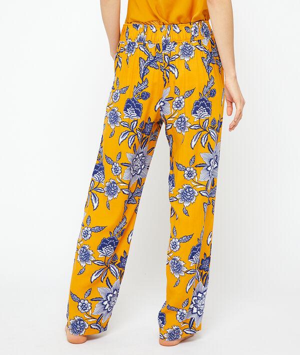 Пижамные брюки с принтом;${refinementColor}