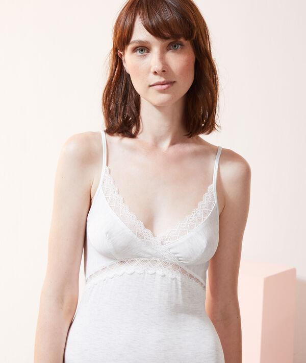 Платье-сорочка с кружевной отделкой;${refinementColor}